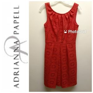 NWOT-Adrianna Papell-Coral Fit 'n Flare Dress-6